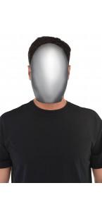Masque sans visage argenté Halloween