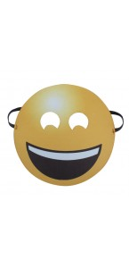"Masque Smiley ""Rire"" jaune adulte"