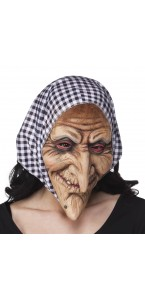 Masque Sorcière en latex Halloween