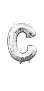 Mini Ballon Lettre C argent