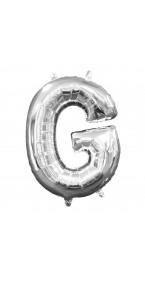 Mini Ballon Lettre G argent