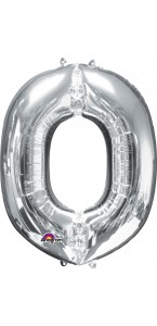 Mini Ballon Lettre O argent