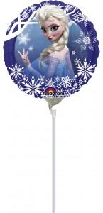 Mini Ballon Reine des Neiges sur tige 23 cm