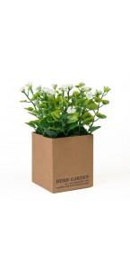 Mini Plante verte artificielle blanche 12 x 12 x 15 cm
