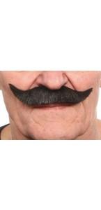 Moustache à la française noire