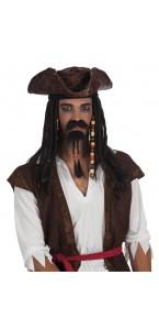 Moustache de pirate et barbe