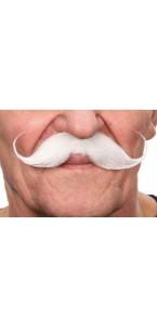 Moustache Guillaume blanche