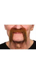 Moustache pirate roux foncé