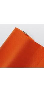 Nappe orange en papier gaufré 25M