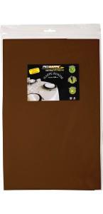 Nappe ronde chocolat papier 240 cm