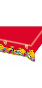 Nappe Smiley Comic en plastique 1,20 x 1,80 m