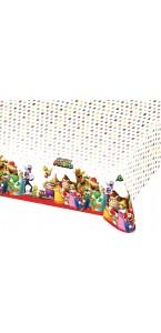 Nappe Super Mario en plastique 1,20 m x 1,80 m