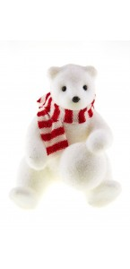 Ourson tricot + écharpe