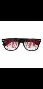 Paire de lunettes sanglantes Halloween