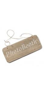 Pancarte bois Photobooth 25 x 10 cm