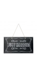 Pancarte Just married 47 x 26 cm