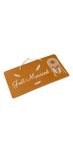 Pancarte Just married  Boho 47 x 26 cm