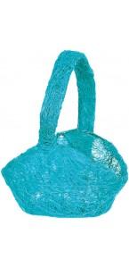 Panier turquoise sisal