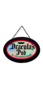 Panneau Dracula'pub Halloween 3 x 33,5 x 47 cm