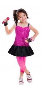 Panoplie Pop star avec accessoires 3/6 ans