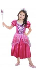Panoplie Princesse rose foncé avec accessoires 3/6ans