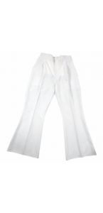 Pantalon pat d'éph stretch blanc