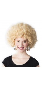Perruque afro blonde