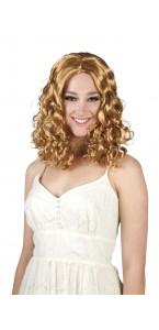 Perruque bouclée Céleste blonde