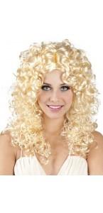 Perruque cheveux bouclés longs Jody  blonde