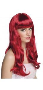 Perruque cheveux longs Chique pour femme rubis