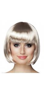 Perruque courte cabaret pour femme platine