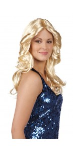 Perruque disco doll blonde