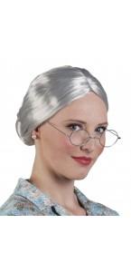 Perruque Granny grise