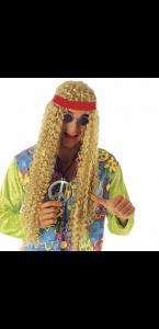 Perruque hippie longue et blonde