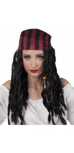 Perruque pirate caraibes femme + bandana