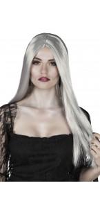 Perruque sorcière Halloween grise
