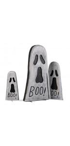 Pierre tombale fantôme Halloween 6 x 31 x 56 cm