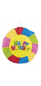 Pinata Ronde Happy Birthday 40 x 40 cm