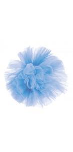 Pompon bleu ciel en tulle 30 cm