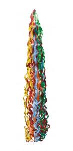 Pompon de rubans multicolores vifs pour ballon 15 x 86 cm