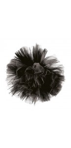 Pompon noir en tulle 30 cm