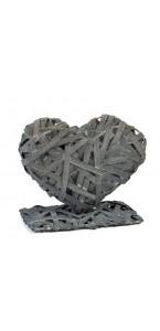 Présentoir à serviettes en osier gris 19 x 10 x 17 cm