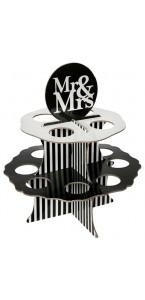 Présentoir pour 12 boules Mr & Mrs noir