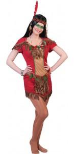 Robe d'indienne Hawk rouge femme