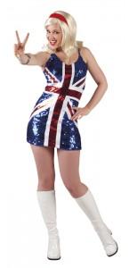 Robe UK à paillettes femme taille M