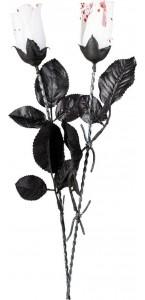 Rose blanche sanglante Halloween 45 cm