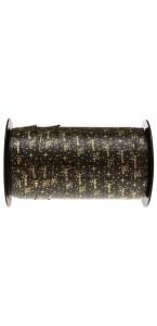 Rouleau de bolduc Joyeuses fêtes noir 10mm x 50 m