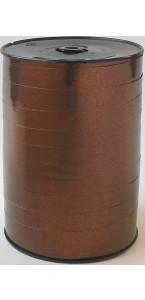 Rouleau de bolduc miroir chocolat 250 m