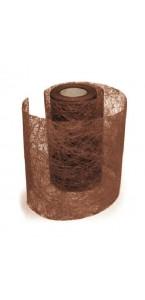 Rouleau de ruban déco chocolat 10 cm x 10 m