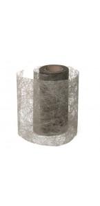 Rouleau de ruban déco gris 10 cm x 10 m